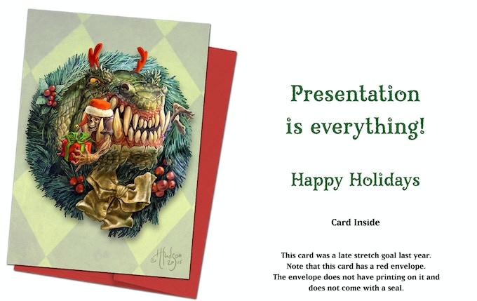 Dragon Wreath (fantasy bonus card)