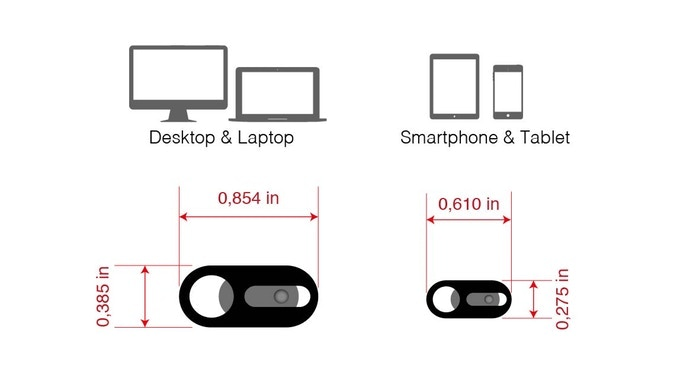 StopSpy: World's Thinnest (0.3mm) Webcam Cover by Ismael
