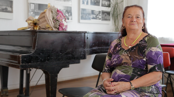 Interview with Valya Balkanska in Smolyan, Bulgaria, August 2017. She is one of Bulgaria's greatest national treasures and learning about her music floating in outer-space as little girls really planted the seed for our project.