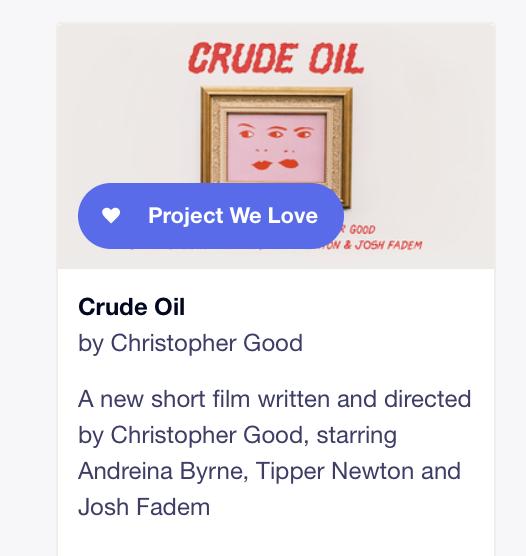 Crude Oil by Christopher Good — Kickstarter