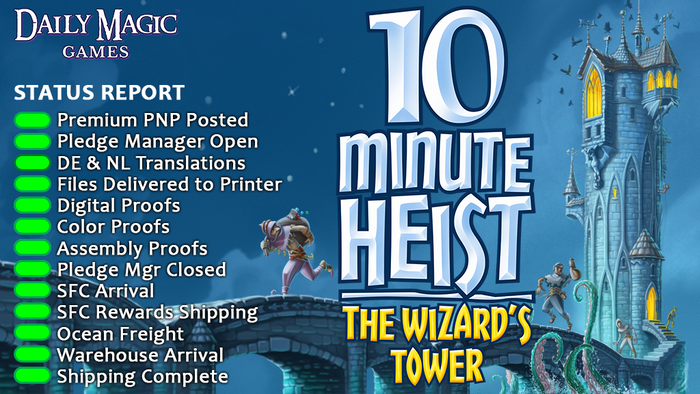 Move through the Wizard's Tower and take items before your fellow thieves do! Balance the curses you receive and the value of items.