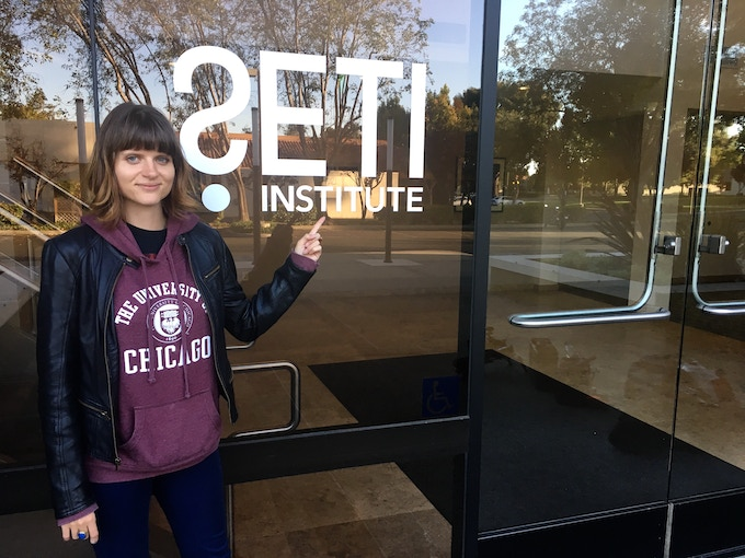 Co-director Biliana Grozdanova travels to California to meet with SETI Institute (Search for Extraterrestrial Intelligence) in September 2017.