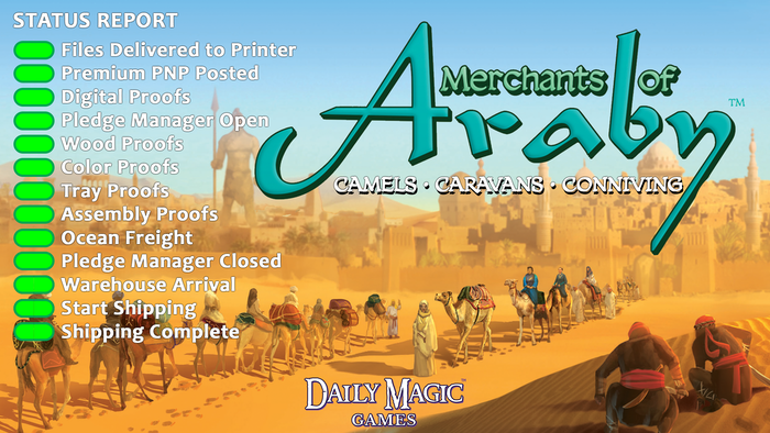 Build your entourage of merchants and allies, invoke virtues, summon djinn, and negotiate to get your camels into caravans.