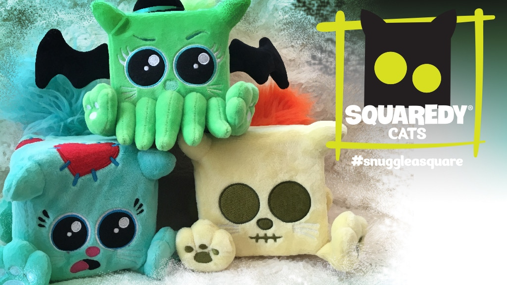 Squaredy Cats Plush toy... Zombie, Cthulhu, Skeleton, oh my! project video thumbnail