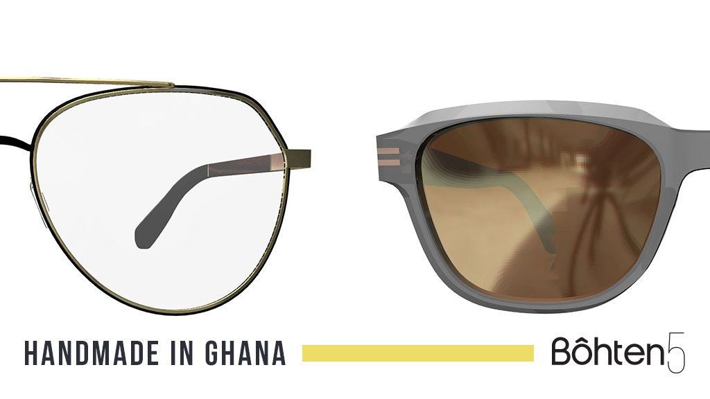 Bôhten5 Eyewear - Made from reclaimed Wood in Ghana project video thumbnail