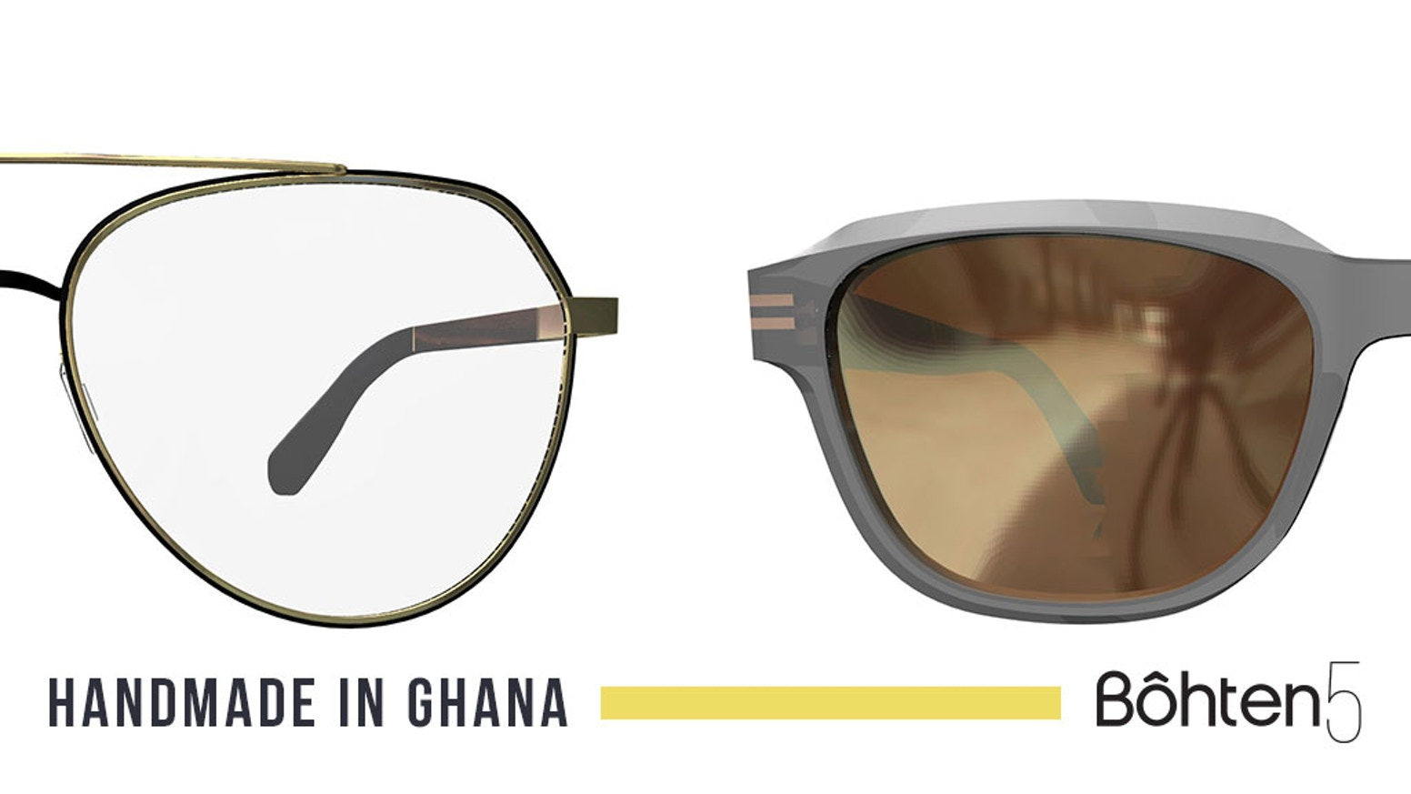 Made from reclaimed african wood, support eyewear production in Ghana with our new collection Bôhten5 to create fair paying jobs