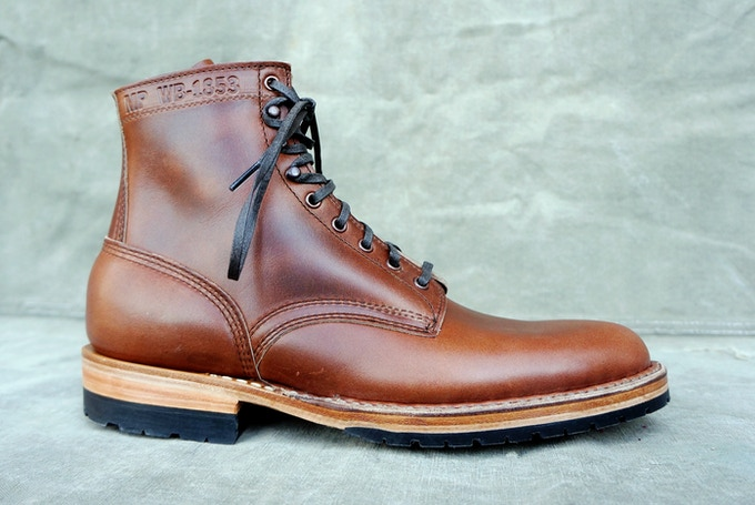 M&R Field Boot - Horween British Tan CXL with Half Mini Lug Sole