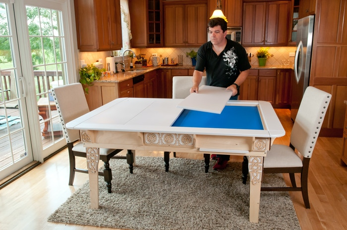 Table Of Ultimate Gaming The Ultimate Game Table By Wood Robot Gorgeous Wooden Gaming Table