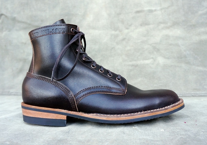 M&R Field Boot - Horween Brown Waxed Flesh with Dainite Sole