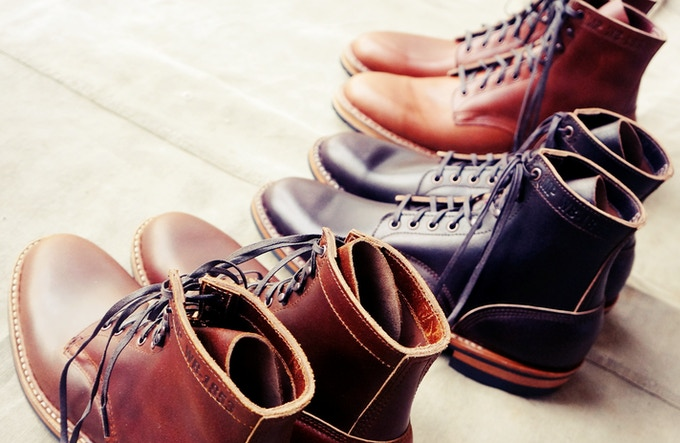 The Field Boot is hand-lasted, hand-welted, and hand-bottomed with an all-leather shank