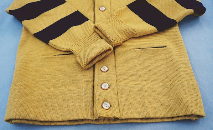 Motorcycle Club Sweater with Butterscotch Buttons