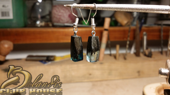 Earrings and Hand Crafted natural wood Jewellery Crystal