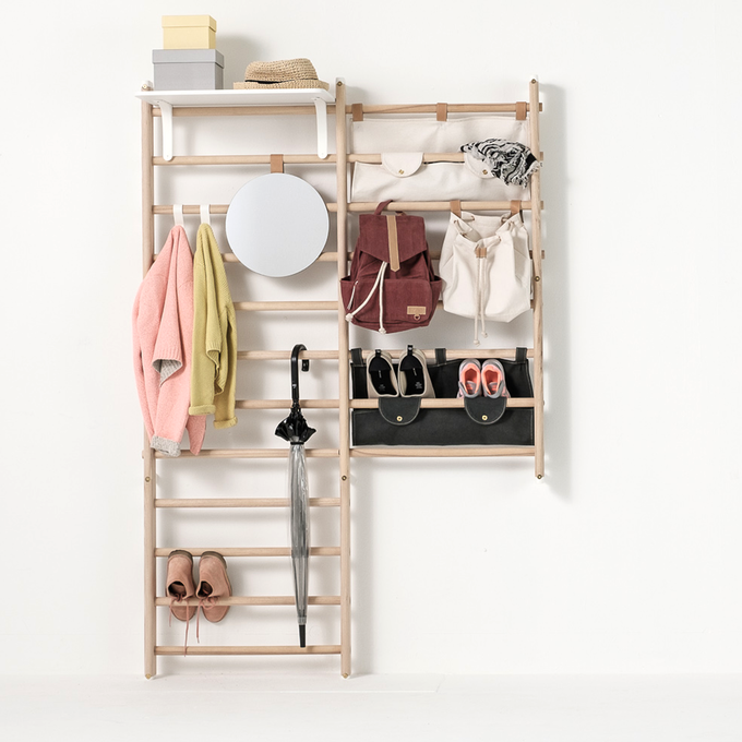 Shoes Goes Between The Bars Or In Canvas Shelf To Get Mess Away From Floor KAOS Bookshelf