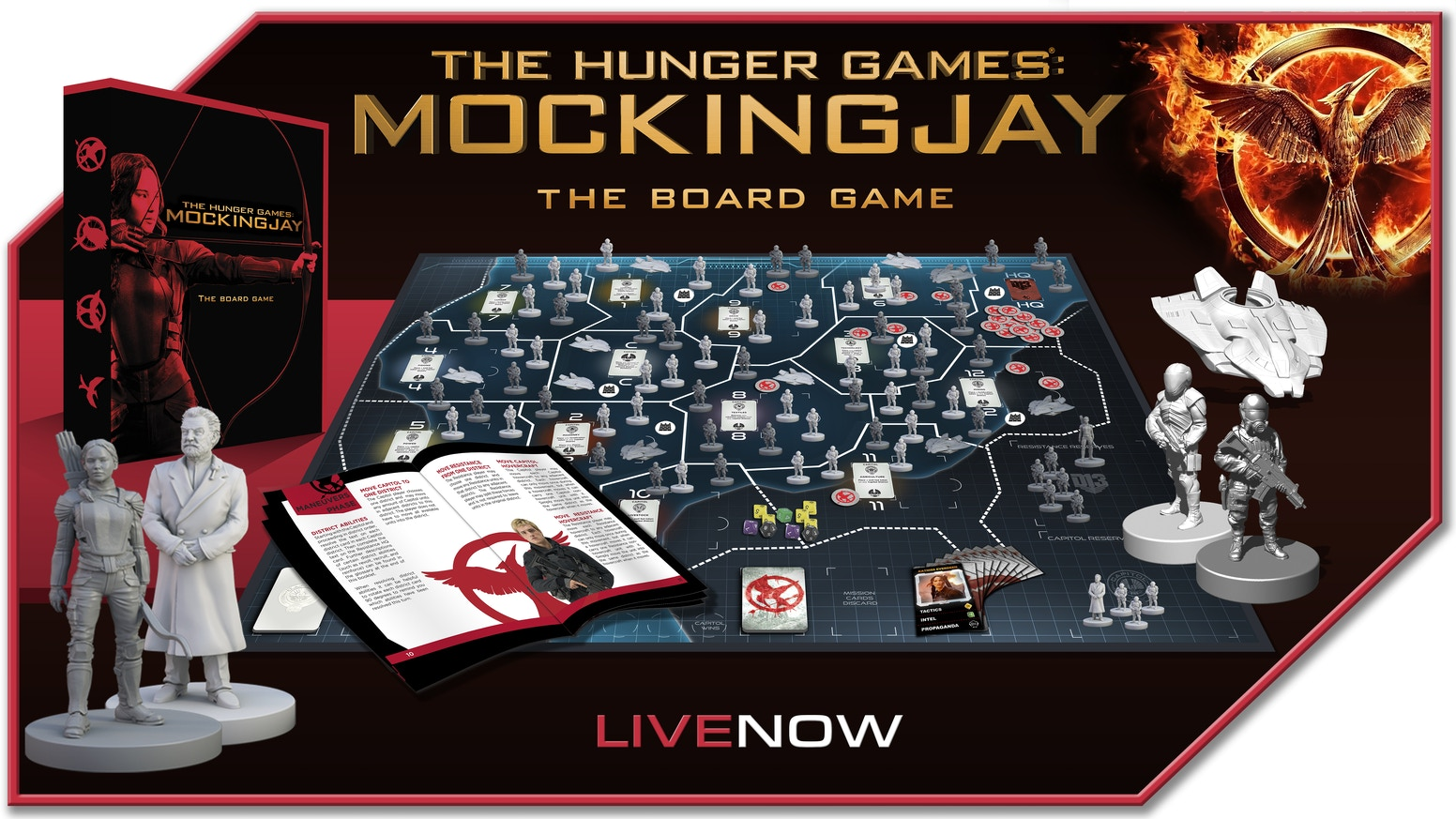 A strategic tabletop game where Panem hangs in the balance as the Resistance tries to overthrow the oppressive Capitol!