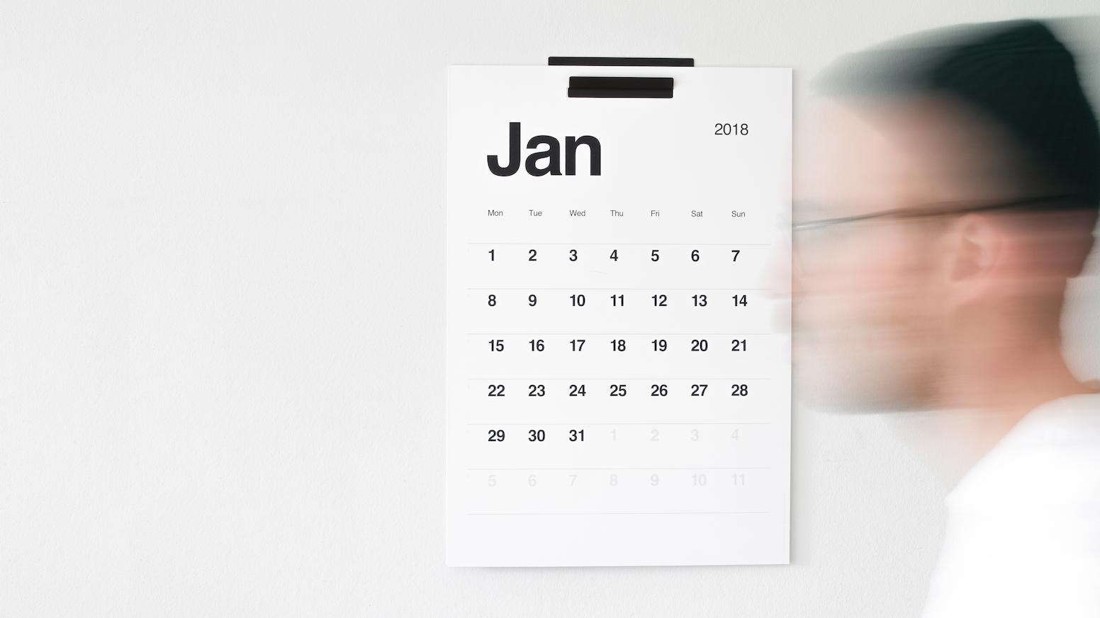 Kal  A modern, minimalist design calendar for everyday use