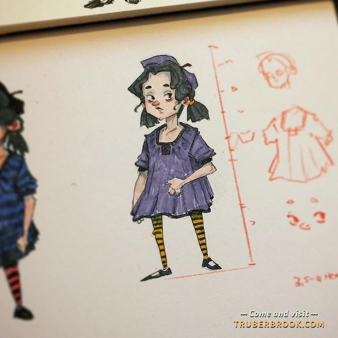 "Leni, the ""weird kid"" from Trüberbrook Elementary"