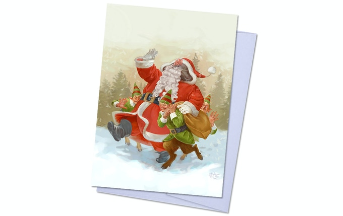 Dreamlands Pack 1, Card 1 - Santa Toad