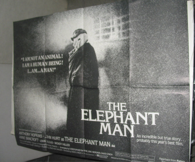 This is an original oversized Elephant Man Quad Poster from 1980, hand-signed by David Lynch. The ultimate one-of-a-kind Lynch collectible. Available at $1500.