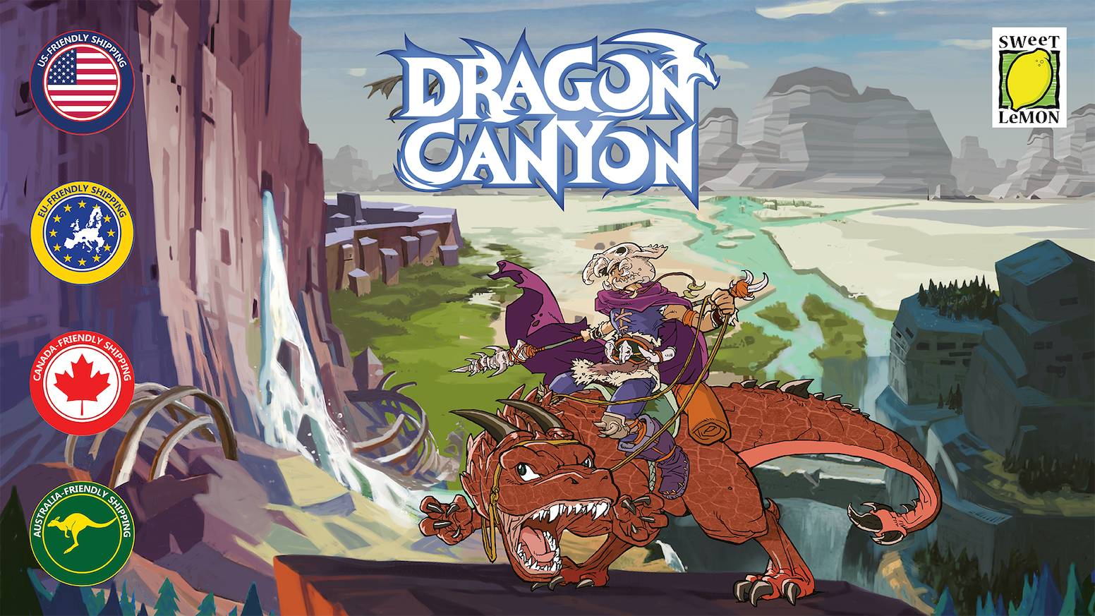 A light skirmish game of tricks and traps for 1-5 players in 30 minutes. Summon mighty dragons and race to claim victory for your clan.