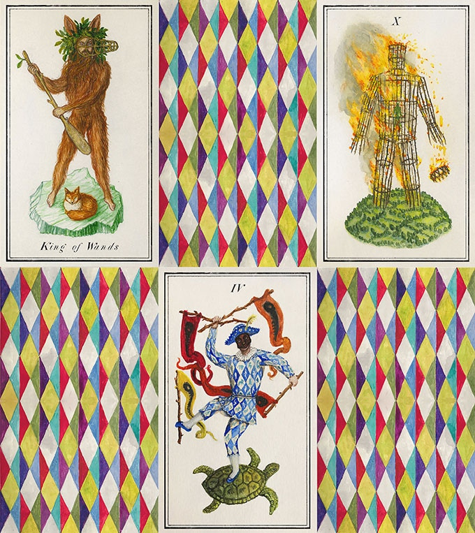 Examples from the suit of Wands