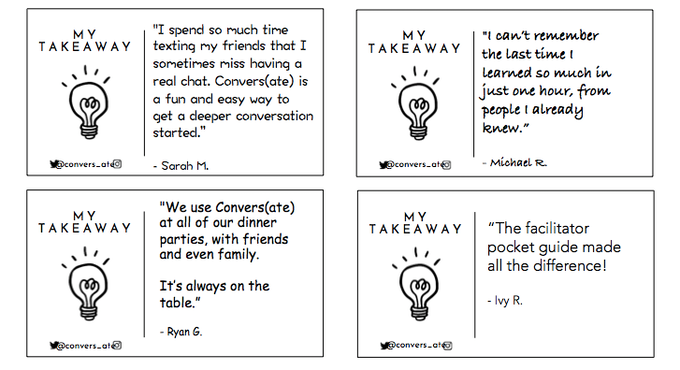 What will your takeaway be?