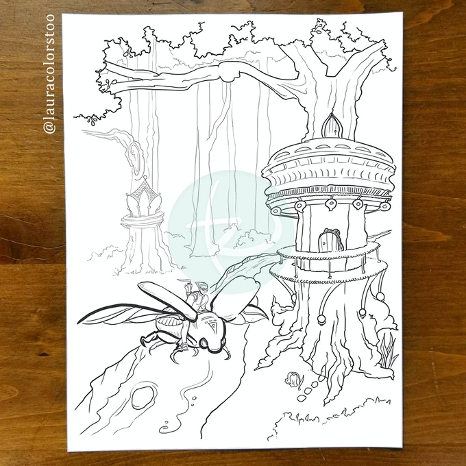 Bluebell Woods Fantasy Coloring Book By Laura Rafferty