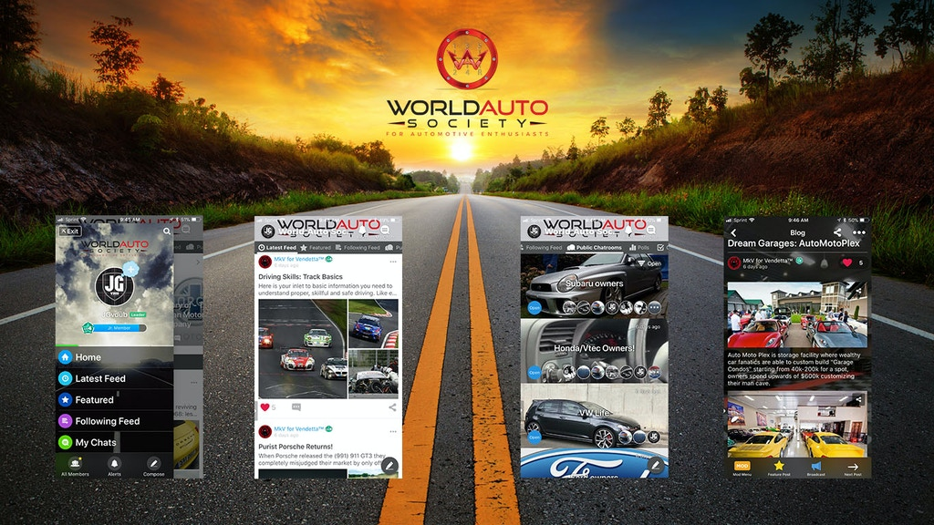 World Auto Society: Mobile App and Community