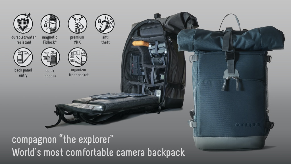 The most comfortable camera backpack // compagnon explorer project video thumbnail
