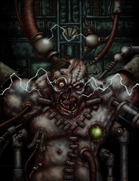 Frankenstein Faktoria Cover by David Allsop
