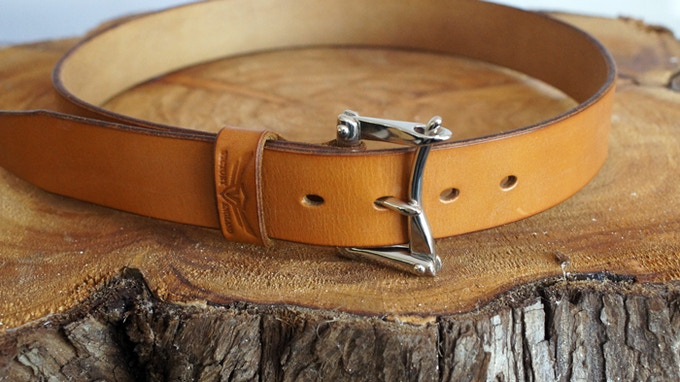 Oak bark leather - tanned over 18 months.