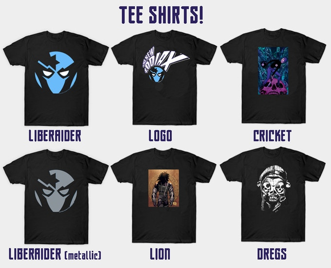 Choose ONE from these designs at the TEE-SHIRT level!