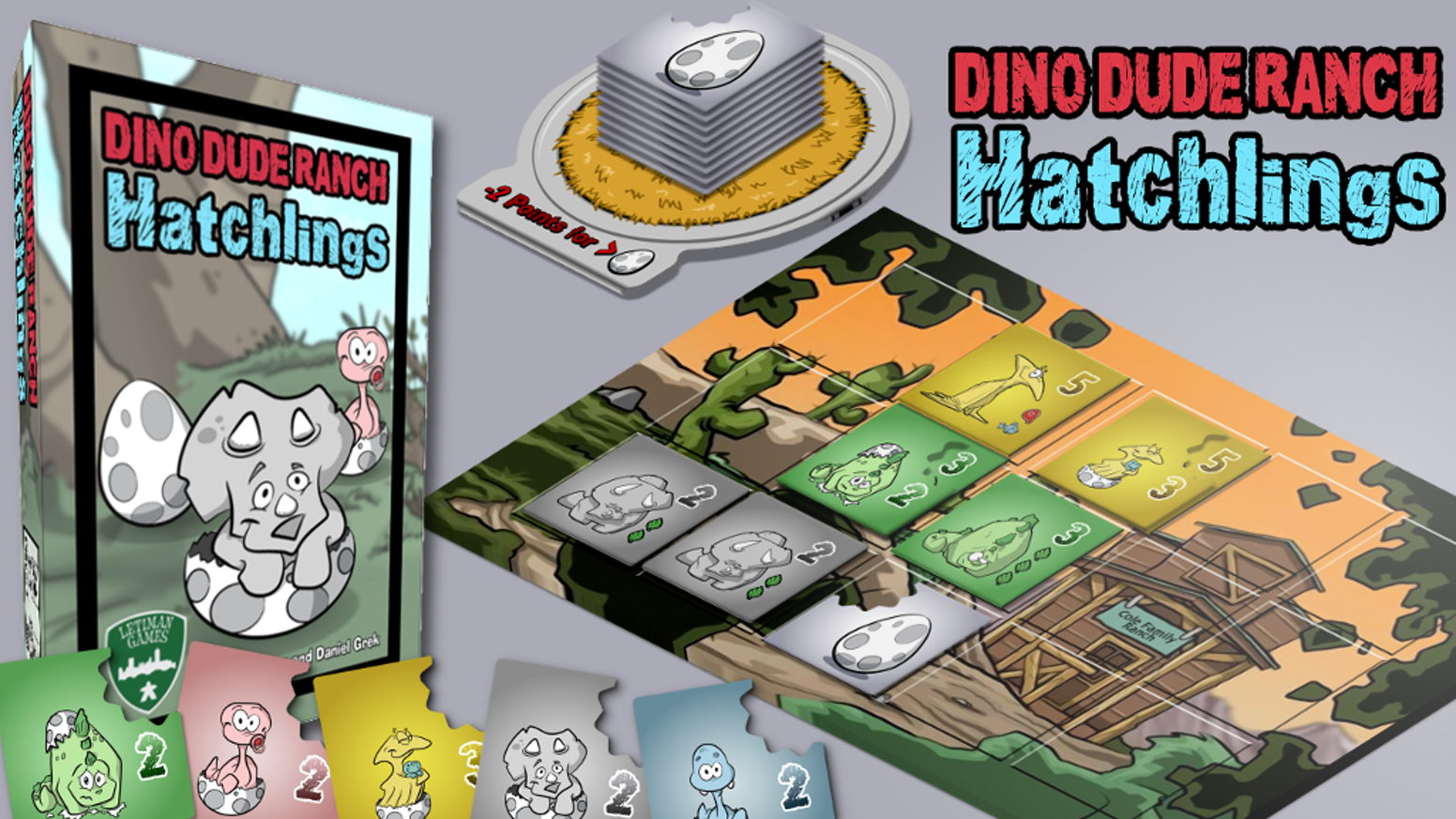 Dino Dude Ranch: Hatchlings expands our dinosaur-themed family game Dino Dude Ranch. More decisions, more fun, more cute dinos!
