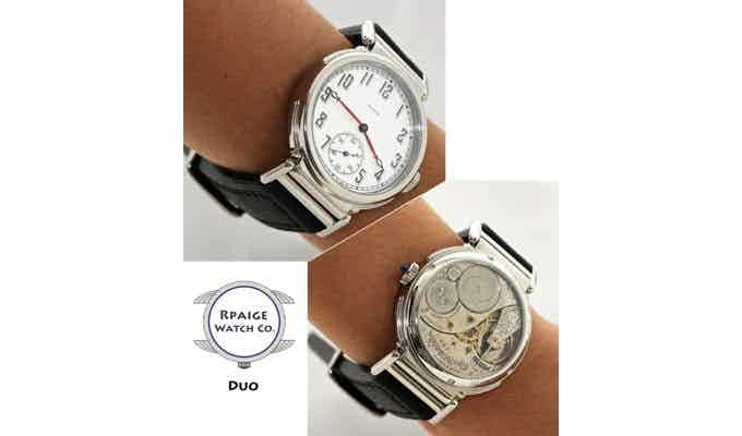 Rpaige Duo watch with case design by Mark Carson
