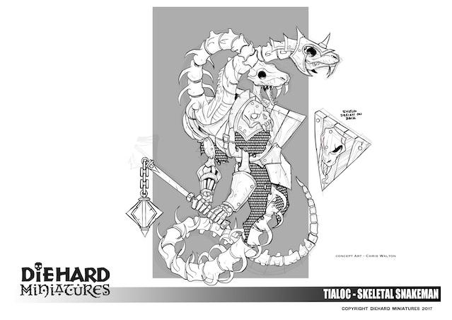 Undead Chaos Snakeman, concept art Chris Walton.