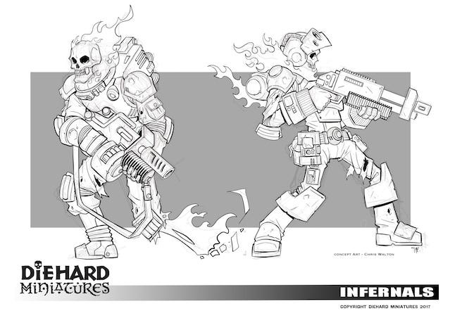 Infernals, concept art Chris Walton.