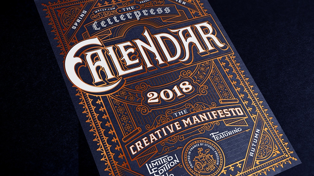 2018 Mr Cup Letterpress Calendar project video thumbnail