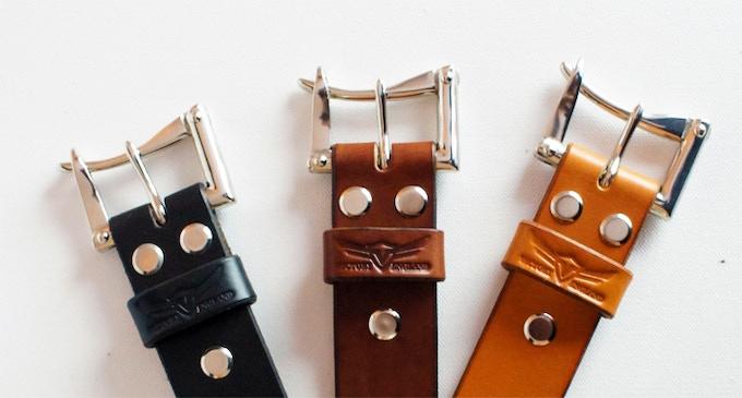 From left - Black, Dark Oak, London Tan all with nickel hardware