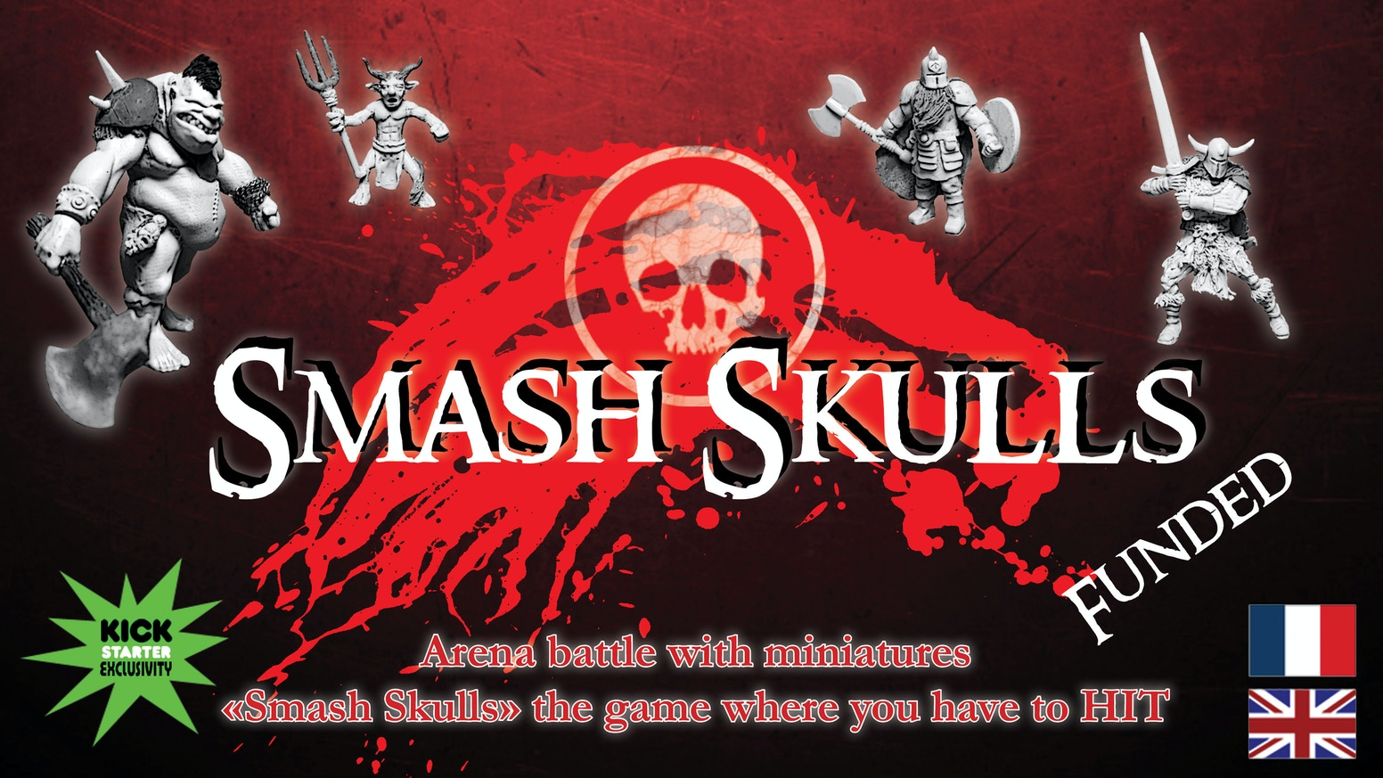 "Arena battle with miniatures. ""Smash Skulls"" the game where you have to HIT!"