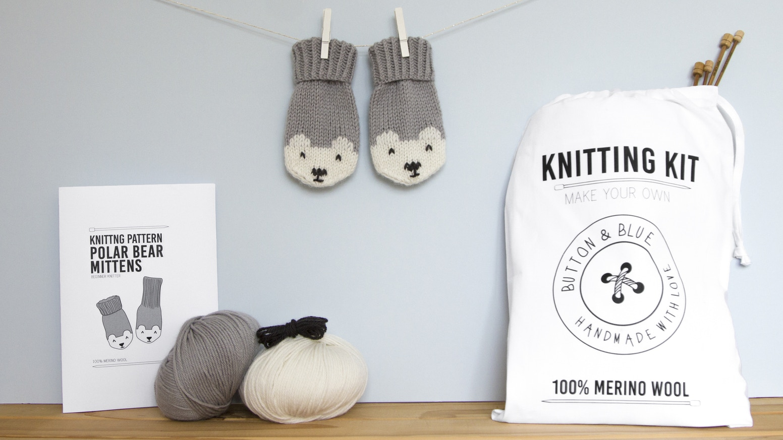 Make your own contemporary knitwear for little ones from the finest merino wool.