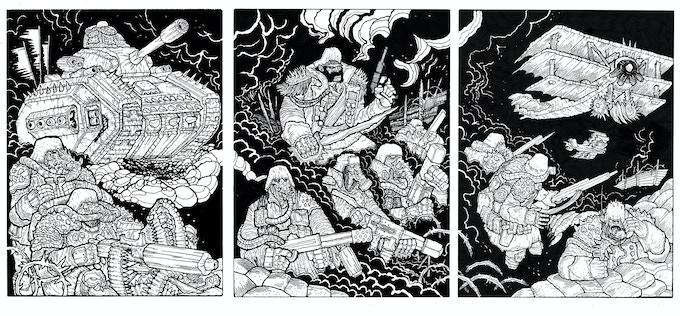Triptych by Darkwizard
