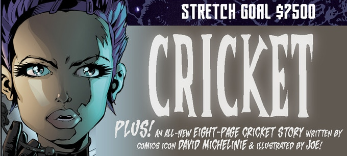 If we can hit the $7500 mark, we'll add an all-new CRICKET story! So let's get there!