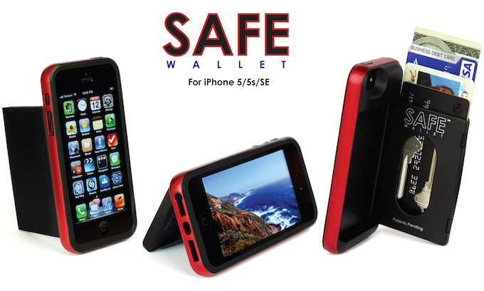 Original SAFE Wallet for iPhone 5/5s/SE Launched On Kickstarter in 2012
