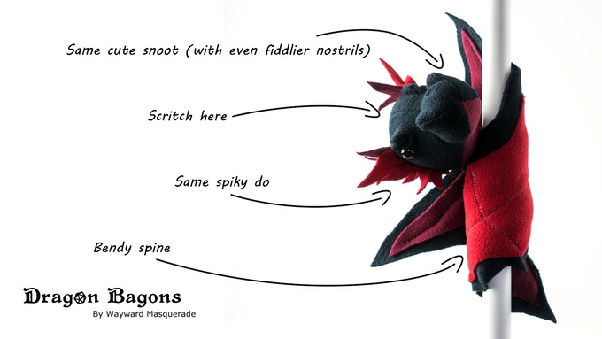Drakelings have a bendy spine that lets them curl around almost anything. They make an adorable bracelet ^_^