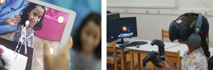 Testing our VR & AR experiences on the children