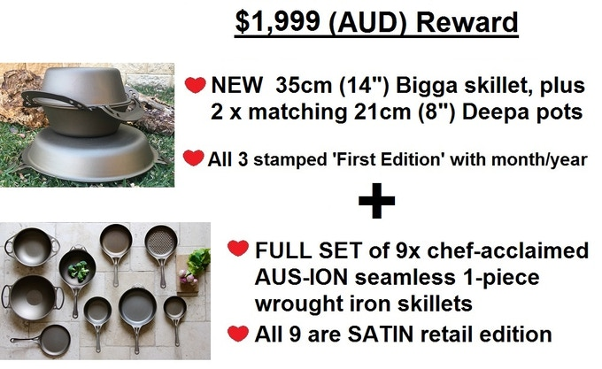 Set for life.....then for many future generations. Pay it forward and pass on this 2017 dated cookware!