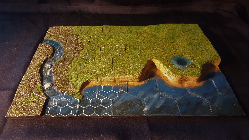 HexT - 3D printable, RPG / Battlefield Modular Terrain Tiles project video thumbnail