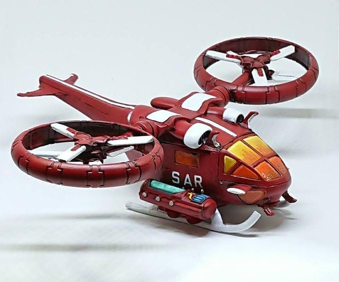 Nightingal Medevac Chopper - thanks to Paul Inman for painting