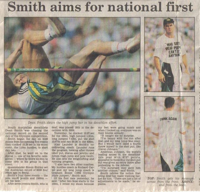 "1992 at the Barcelona Olympics and the world talks about ""that"" t-shirt"