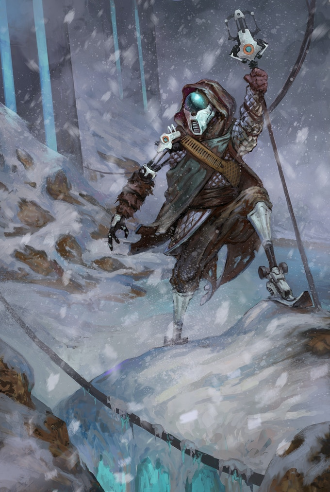Even though her exo-suit prevented the cold wind and driving sleet from reaching her skin, Abranna still felt the cold. She held onto her Ferro Rod while surveying the ruins around her, looking for anything useful.