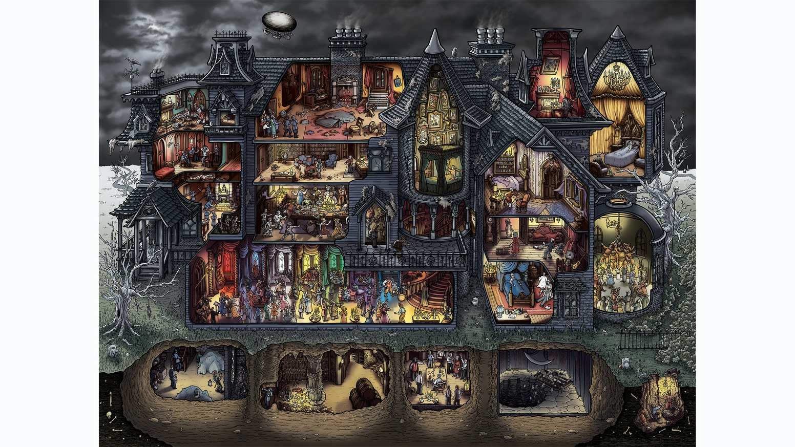 Edgar Allan Poe's Macabre Mansion: Jigsaw Puzzle & Prints by Holly